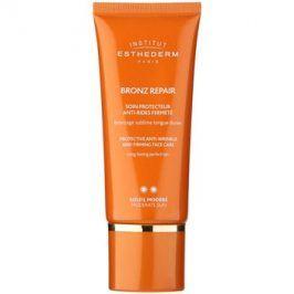 Institut Esthederm Bronz Repair zpevňující protivráskový krém na obličej se střední UV ochranou  50 ml