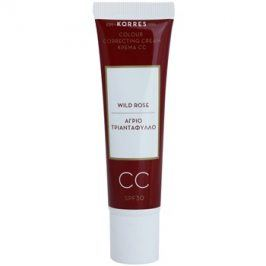 Korres Face Wild Rose rozjasňující CC krém SPF30 odstín Medium  30 ml