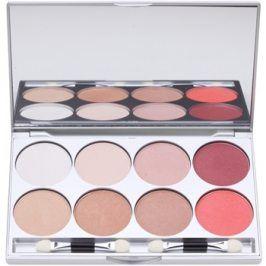 Kryolan Basic Eyes paleta očních stínů 8 barev se zrcátkem a aplikátorem odstín Elegance 24 g