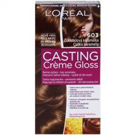 L'Oréal Paris Casting Creme Gloss barva na vlasy odstín 603 Chocolate Caramel