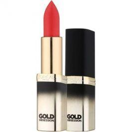 L'Oréal Paris Color Riche Gold Obsession rtěnka s 24 karátovým zlatem odstín Rouge Gold 7 ml