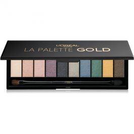 L'Oréal Paris Color Riche La Palette Gold paleta očních stínů se zrcátkem a aplikátorem  7 g