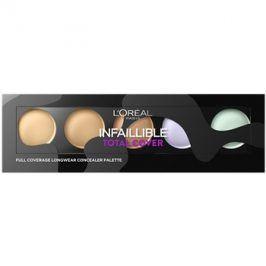 L'Oréal Paris Infaillible Total Cover paleta korektorů  10 g
