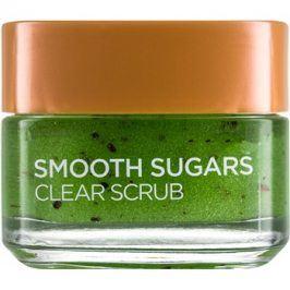 L'Oréal Paris Smooth Sugars Scrub čisticí peeling proti černým tečkám  50 ml