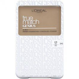 L'Oréal Paris True Match Genius kompaktní make-up 4 v 1 odstín 4.N Beige SPF 30 7 g