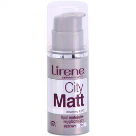 Lirene City Matt matující fluidní make-up s vyhlazujícím efektem odstín 207 Beige  30 ml