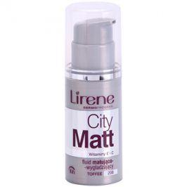 Lirene City Matt matující fluidní make-up s vyhlazujícím efektem odstín 208 Toffee  30 ml