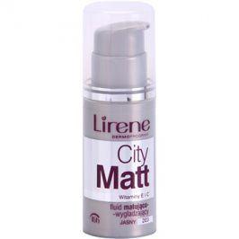 Lirene City Matt matující fluidní make-up s vyhlazujícím efektem odstín 203 Light  30 ml