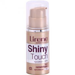 Lirene Shiny Touch rozjasňující fluidní make-up 16h odstín 104 Natural (SPF 8) 30 ml