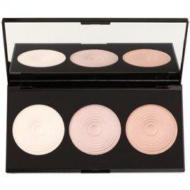 Makeup Revolution Beyond Radiance paleta rozjasňovačů se zrcátkem  15 g
