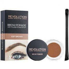 Makeup Revolution Brow Pomade pomáda na obočí odstín Soft Brown 2,5 g