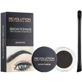Makeup Revolution Brow Pomade pomáda na obočí odstín Graphite 2,5 g