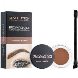 Makeup Revolution Brow Pomade pomáda na obočí odstín Caramel Brown 2,5 g