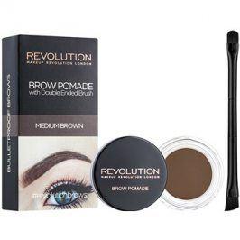 Makeup Revolution Brow Pomade pomáda na obočí odstín Medium Brown 2,5 g
