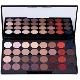 Makeup Revolution Flawless Matte 2 paleta očních stínů se zrcátkem  20 g