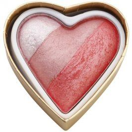 Makeup Revolution I ♥ Makeup Blushing Hearts tvářenka odstín Bursting With love 10 g
