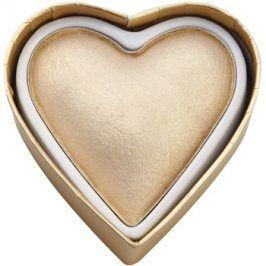 Makeup Revolution I ♥ Makeup Blushing Hearts rozjasňující pudr zlatá bohyně  10 g