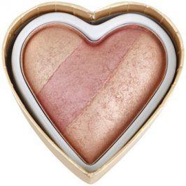 Makeup Revolution I ♥ Makeup Blushing Hearts tvářenka odstín Peachy Keen Heart 10 g