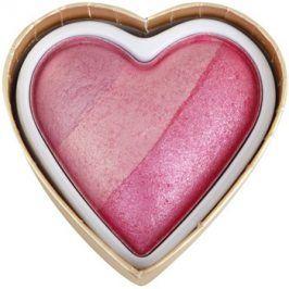 Makeup Revolution I ♥ Makeup Blushing Hearts tvářenka odstín Blushing Heart 10 g