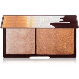 Makeup Revolution I ♥ Makeup Bronze And Shimmer rozjasňující a bronzující paletka  11 g
