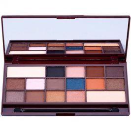 Makeup Revolution I ♥ Makeup I Heart Chocolate paleta očních stínů se zrcátkem a aplikátorem odstín Salted Caramel  22 g