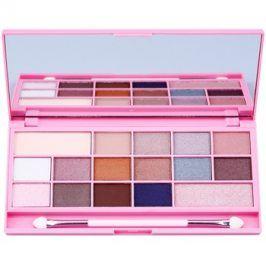 Makeup Revolution I ♥ Makeup I Heart Chocolate paleta očních stínů se zrcátkem a aplikátorem odstín Pink Fizz  22 g