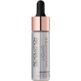 Makeup Revolution Liquid Highlighter tekutý rozjasňovač odstín Unicorn Elixir 18 ml