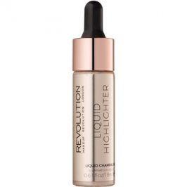 Makeup Revolution Liquid Highlighter tekutý rozjasňovač odstín Liquid Champagne 18 ml