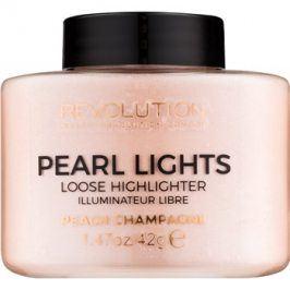 Makeup Revolution Pearl Lights sypký rozjasňovač odstín Peach Champagne 42 g