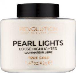 Makeup Revolution Pearl Lights sypký rozjasňovač odstín True Gold 42 g