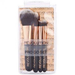 Makeup Revolution Pro Go Set sada mini štetců cestovní balení  4 ks