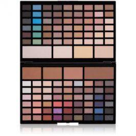 Makeup Revolution Pro HD Eyes & Contour paleta očních stínů a konturovacích pudrů s rozjasňovačem  60,5 g