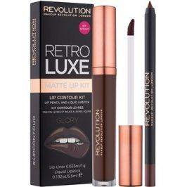 Makeup Revolution Retro Luxe matná sada na rty odstín Glory 5,5 ml