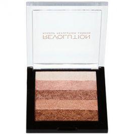 Makeup Revolution Shimmer Brick bronzer a rozjasňovač 2v1 odstín Radiant 7 g