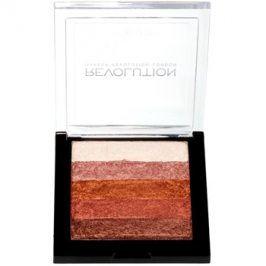 Makeup Revolution Shimmer Brick bronzer a rozjasňovač 2v1 odstín Rose Gold 7 g