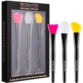 Makeup Revolution Silicone Contour sada silikonových štětců na konturování  3 ks