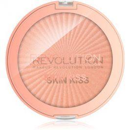 Makeup Revolution Skin Kiss rozjasňovač na oči a tvář odstín Rose Gold Kiss 14 g