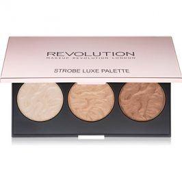 Makeup Revolution Strobe Luxe paleta rozjasňovačů  11,5 g