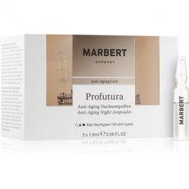 Marbert Anti-Aging Care Profutura noční ampule proti stárnutí pleti  5 x 1,8 ml
