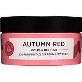Maria Nila Colour Refresh Autumn Red jemná vyživující maska bez permanentních barevných pigmentů výdrž 4-10 umytí 6.60 100 ml
