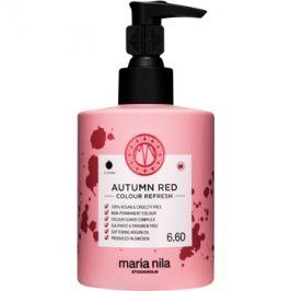 Maria Nila Colour Refresh Autumn Red jemná vyživující maska bez permanentních barevných pigmentů výdrž 4-10 umytí 6.60 300 ml