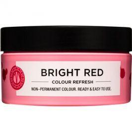 Maria Nila Colour Refresh Bright Red jemná vyživující maska bez permanentních barevných pigmentů výdrž 4-10 umytí 0.66 100 ml