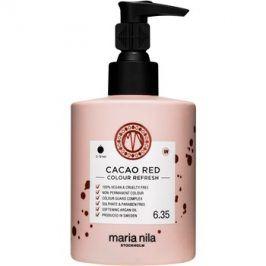 Maria Nila Colour Refresh Cacao Red jemná vyživující maska bez permanentních barevných pigmentů výdrž 4-10 umytí 6.35 300 ml