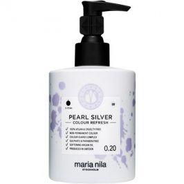 Maria Nila Colour Refresh Pearl Silver jemná vyživující maska bez permanentních barevných pigmentů výdrž 4-10 umytí 0.20 300 ml