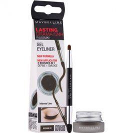 Maybelline Eyeliner Lasting Drama™ gelové oční linky odstín 02 Brown 2,8 g