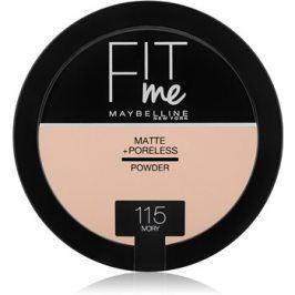 Maybelline Fit Me! Matte+Poreless matující pudr odstín 115 Ivory 14 g