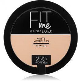 Maybelline Fit Me! Matte+Poreless matující pudr odstín 220 Natural Beige 14 g