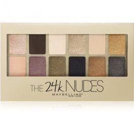 Maybelline The 24K Nudes paleta očních stínů odstín Gold 9,6 g
