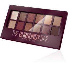 Maybelline The Burgundy Bar paleta očních stínů  9,6 g