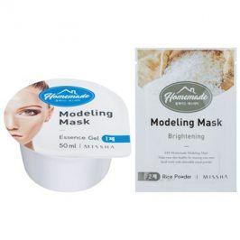 Missha Homemade Rice Powder modelační pleťová maska s rozjasňujícím účinkem 5 g + 50 ml